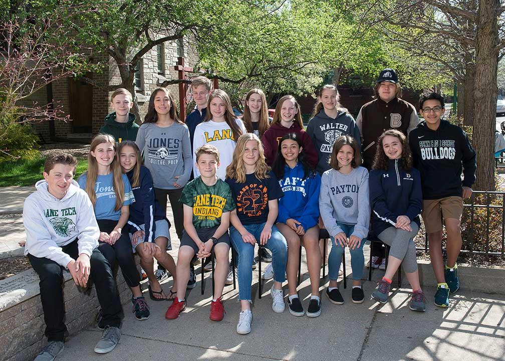 Pilgrim Lutheran 2019 8th Grade class