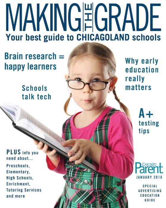 The cover of an issue of Chicago Parent Magazine