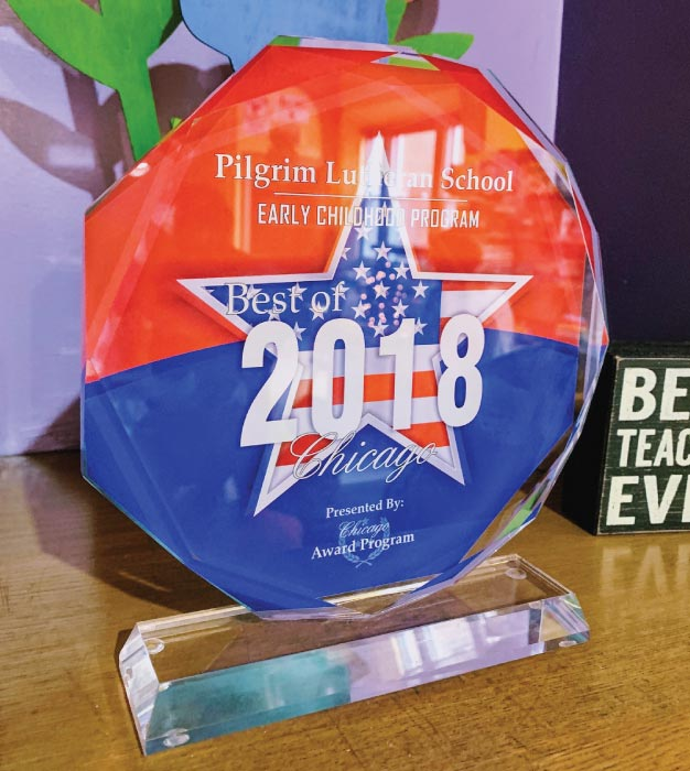 2018 Best of Chicago Award for Pilgrim Lutheran Pre-School