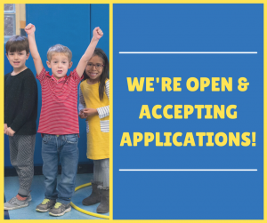 We're Open and Accepting Applications!